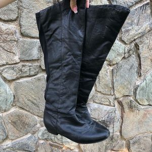 STEVE MADDEN Creation High Black Riding Boots